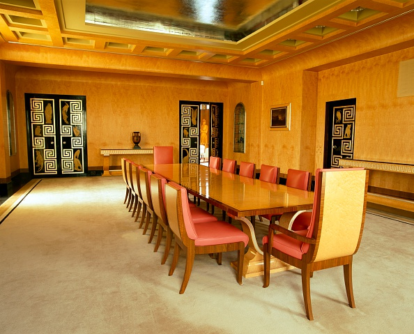 Ceiling「The dining room, Eltham Palace, Greenwich, London, c2000s(?)」:写真・画像(1)[壁紙.com]