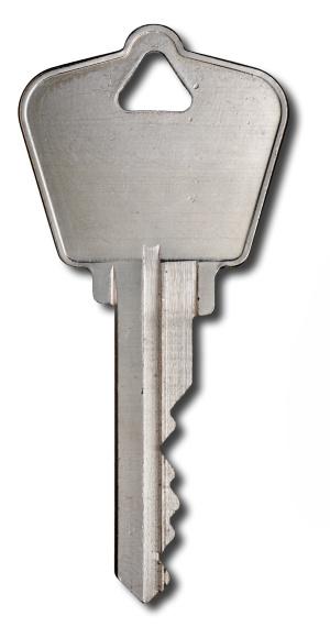 Security System「Silver House key on white」:スマホ壁紙(7)