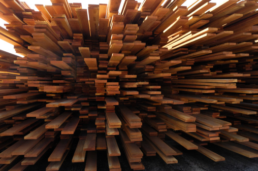 Lumber Industry「Stack of Just Milled Redwood Lumber」:スマホ壁紙(6)