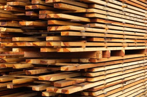 Lumber Industry「Stack of Just Milled Redwood Lumber」:スマホ壁紙(3)