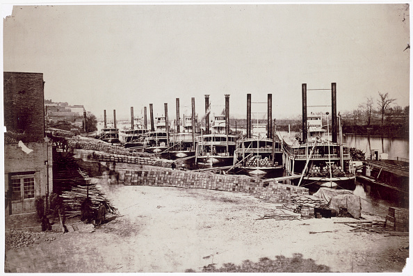 Water's Edge「Steamers On The Mississippi USA 19th Century」:写真・画像(19)[壁紙.com]