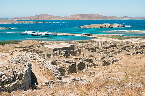 Aegean Sea「Greece, Mykonos, Delos, archaeological site and Aegean Sea」:スマホ壁紙(10)