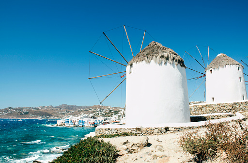 Mill「Greece, Mykonos, view of traditional windmills」:スマホ壁紙(13)