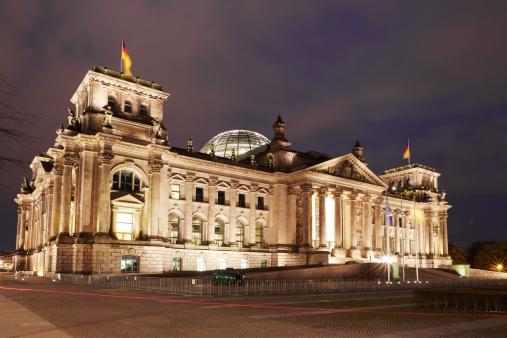 The Reichstag「Reichstag illuminated at night」:スマホ壁紙(18)