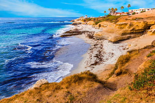 Eroded「La Jolla coastline in Southern California,San Diego (P)」:スマホ壁紙(6)