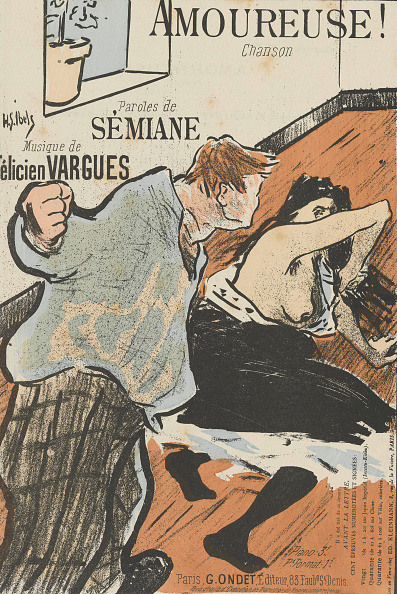 Chromolithograph「Cover Of The Score Of Amoureuse! By Felicien Vargues」:写真・画像(11)[壁紙.com]