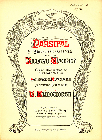 Art Nouveau「Cover Of The Vocal Score Of Opera Parsifal By Richard Wagner」:写真・画像(18)[壁紙.com]