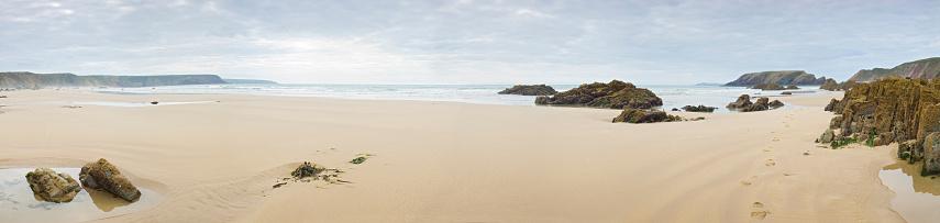 Coastline「Beach with footprints」:スマホ壁紙(13)
