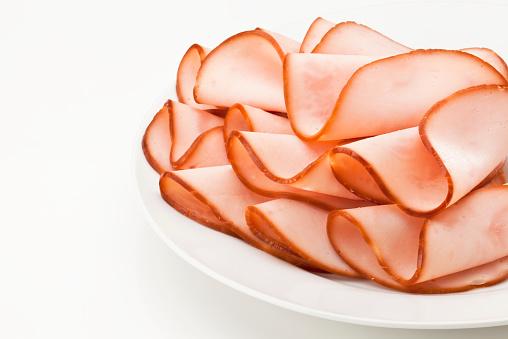 Delicatessen「Smoked ham slices on a plate」:スマホ壁紙(11)