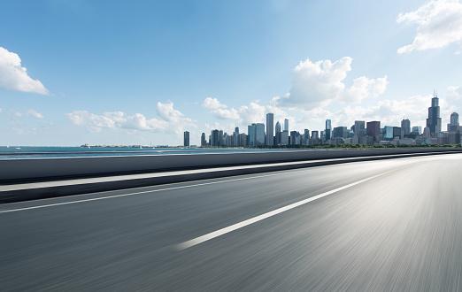 Empty Road「Urban Road,Chicago」:スマホ壁紙(17)