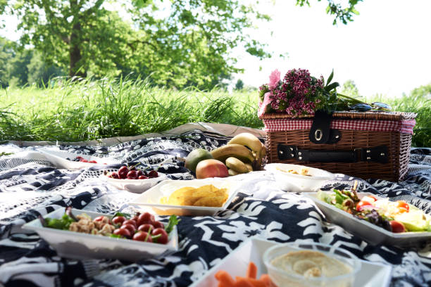 Healthy picnic in a park in summer:スマホ壁紙(壁紙.com)