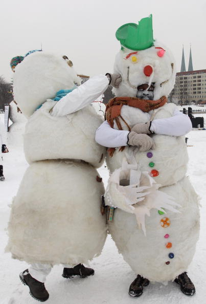 雪だるま「Snowman Performance Against Global Warming」:写真・画像(3)[壁紙.com]