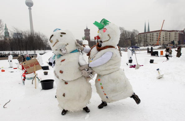 雪だるま「Snowman Performance Against Global Warming」:写真・画像(4)[壁紙.com]