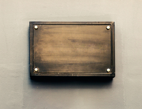 Building Exterior「Blank metal plaque」:スマホ壁紙(12)
