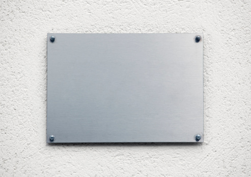 メタリック「空白のメタルプレート」:スマホ壁紙(14)