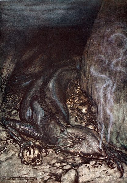 Print Collector「In Dragon's Form Fafner Now Watches The Hoard' 1924」:写真・画像(0)[壁紙.com]
