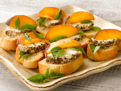 Peach「Goat Cheese Peach Bruscetta」:スマホ壁紙(6)