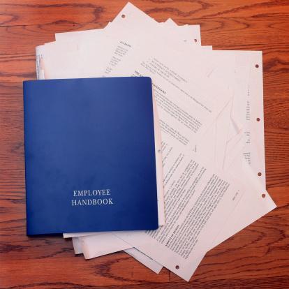 Human Resources「Employee Handbook Stuffed With Paperwork」:スマホ壁紙(3)