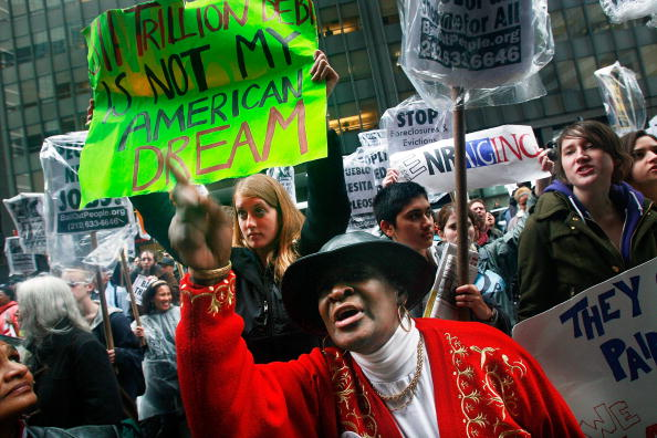 AIG「Protesters Demonstrate Against Gov't Bailouts On Wall Street」:写真・画像(16)[壁紙.com]