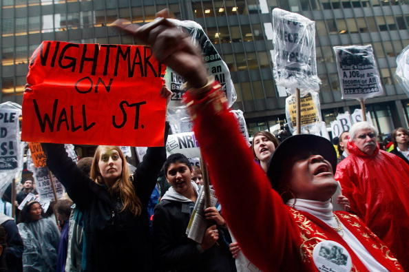 Crisis「Protesters Demonstrate Against Gov't Bailouts On Wall Street」:写真・画像(7)[壁紙.com]