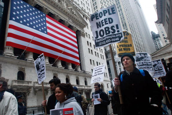 Economy「Protesters Demonstrate Against Gov't Bailouts On Wall Street」:写真・画像(12)[壁紙.com]