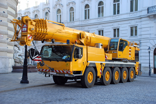 Construction Vehicle「pick up and crane truck」:スマホ壁紙(4)
