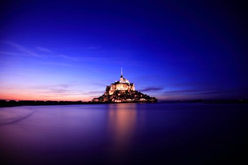 Abbey - Monastery「Mont Saint-Michel, France」:スマホ壁紙(15)
