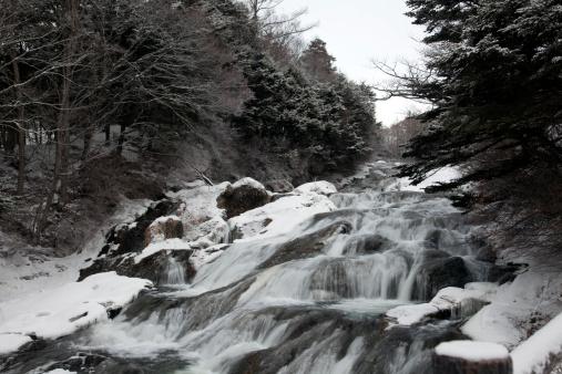 Nikko City「Waterfall in Winter」:スマホ壁紙(18)