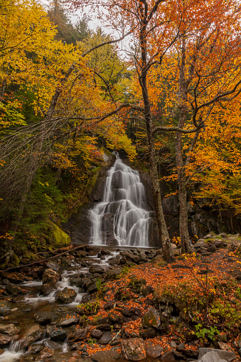 Stowe - Vermont「Waterfall in Autumn in Vermont, New England」:スマホ壁紙(18)