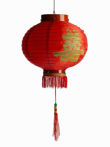 Red chinese lantern on white background:スマホ壁紙(壁紙.com)