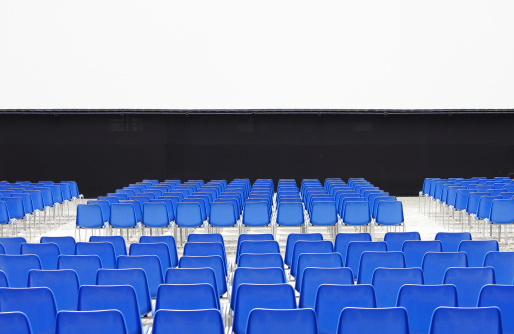 Film Screening「Outdoor cinema with blue chairs.」:スマホ壁紙(12)