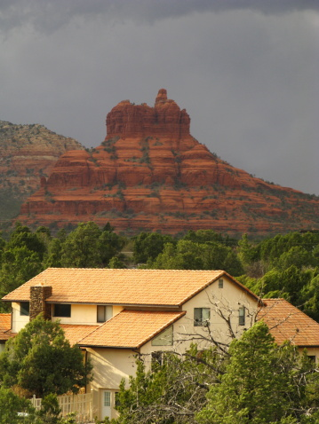 Sedona「House Arizona Sedona Red Rock Storm」:スマホ壁紙(12)