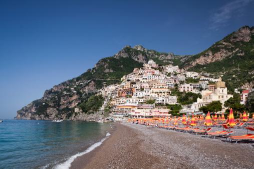 アマルフィ海岸「Positano beach」:スマホ壁紙(15)
