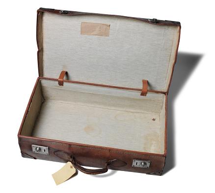旅行「旧レザーのスーツケースオープン」:スマホ壁紙(16)