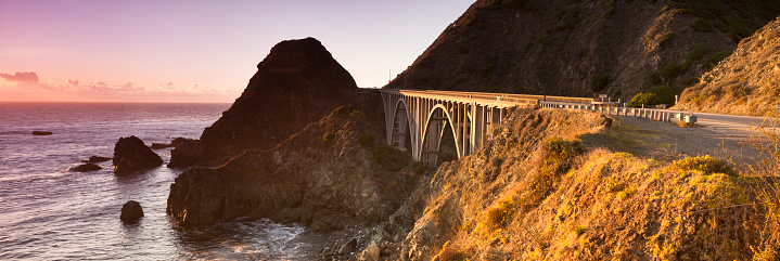 Big Sur「Big Creek Bridge panoramic, Big Sur, California, USA」:スマホ壁紙(10)