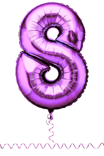 数字の8「Pink balloon in the shape of a number eight」:スマホ壁紙(14)
