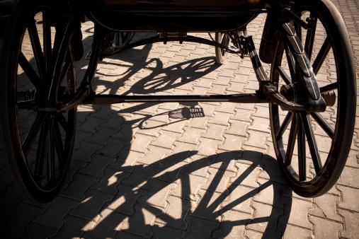 Sepia Toned「Old wagon wheel with shadow」:スマホ壁紙(18)