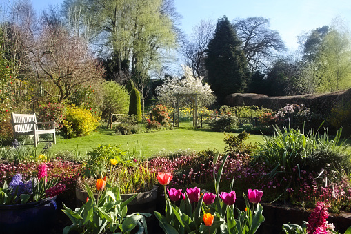April「Domestic English garden full of flowers in spring.」:スマホ壁紙(9)
