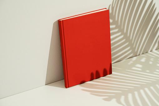 Gray Background「Red blank magazine mockup, template」:スマホ壁紙(2)