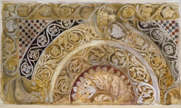 Full Frame「Study Of A Panel On The Font Of The Baptistery」:写真・画像(2)[壁紙.com]