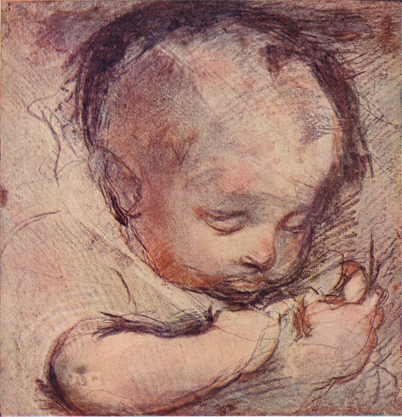 Full Frame「Study of a Sleeping Baby, c16th century, (1903). Artist: Federico Barocci」:写真・画像(15)[壁紙.com]