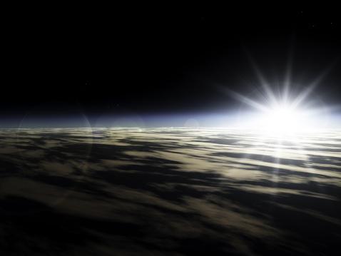星空「日の出からスペース」:スマホ壁紙(8)
