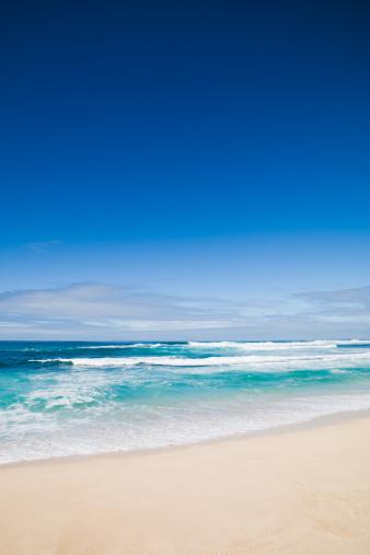 オアフ島「美しい空のビーチのハワイ」:スマホ壁紙(19)