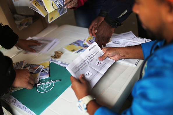 Politics「Colombia Votes On Peace Accord With FARC」:写真・画像(18)[壁紙.com]