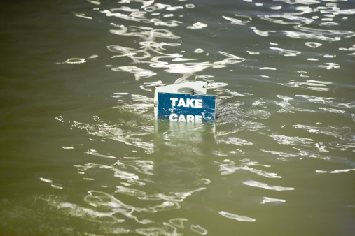 Weston-super-Mare「Take Care sign underwater, Weston-Super-Mare, Somerset, England」:スマホ壁紙(16)