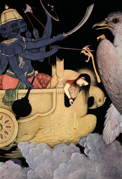 Fictional Character「Ravana Fighting With Jatayu 1913」:写真・画像(2)[壁紙.com]