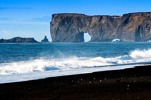 Dyrholaey「Dyrholaey black sand beach in Vik, Iceland」:スマホ壁紙(16)