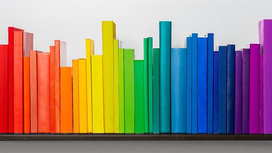 Well-dressed「Spectrum multicoloured of books.」:スマホ壁紙(7)