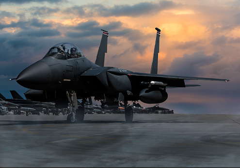 Military「F-15 Eagle Fighter Plane at sunset」:スマホ壁紙(17)