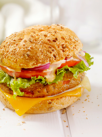 Chili Sauce「Gourmet Veggie Burger with Spicy Mayo」:スマホ壁紙(1)